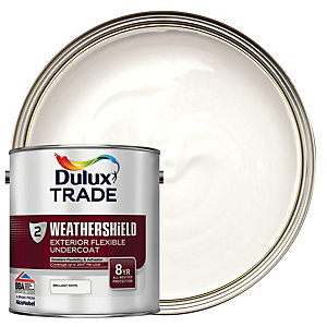 Dulux Trade Weathershield Exterior Flexible Undercoat Paint - Brilliant White 2.5L