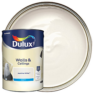 Dulux - Jasmine White - Matt Emulsion Paint 5L
