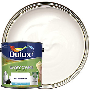Dulux Easycare Kitchen - Pure Brilliant White - Matt Emulsion Paint 2.5L