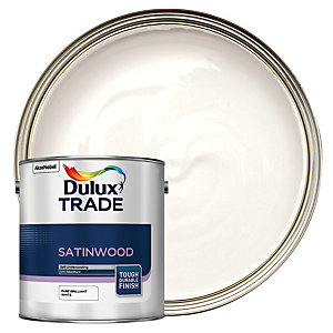 Dulux Trade Satinwood Paint - Pure Brilliant White 2.5L