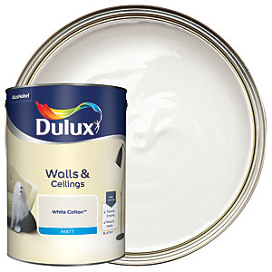 Dulux - White Cotton - Matt Emulsion Paint 5L