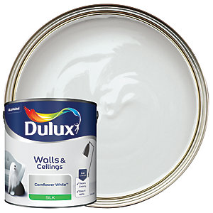 Dulux - Cornflower White - Silk Emulsion Paint 2.5L