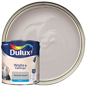 Dulux - Perfectly Taupe - Matt Emulsion Paint 2.5L