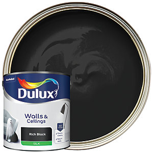 Dulux - Rich Black - Silk Emulsion Paint 2.5L