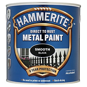 Hammerite Metal Paint - Smooth Black 2.5L