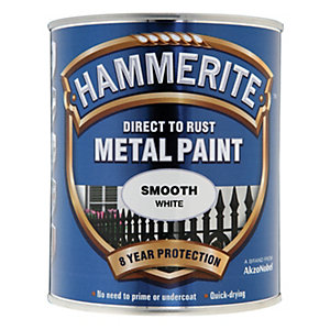 Image of Hammerite Metal Paint - Smooth White 750ml