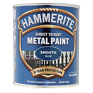 Hammerite Metal Paint - Smooth Blue 750ml