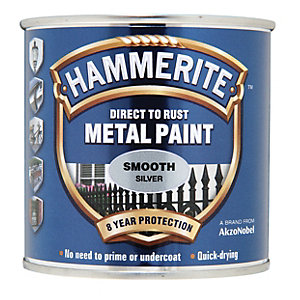 Hammerite Metal Paint - Smooth Silver 250 ml