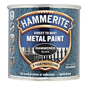 Hammerite Metal Paint - Hammered Black 250ml