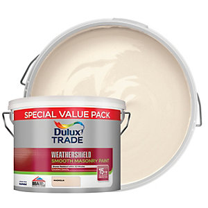 Dulux Trade Weathershield Smooth Masonry Paint - Magnolia 7.5L