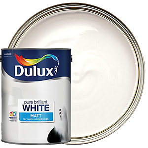 Dulux Pure Brilliant White - Matt Emulsion Paint 5L