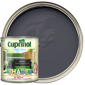 Image of Cuprinol Garden Shades Matt Wood Treatment - Black Ash 2.5L