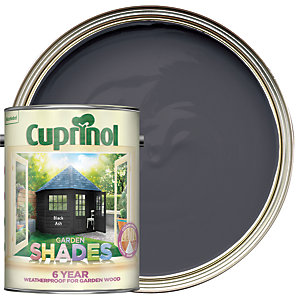 Image of Cuprinol Garden Shades Matt Wood Treatment - Black Ash 5L