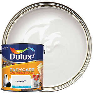 Dulux Easycare Washable & Tough - White Mist - Matt Emulsion Paint 2.5L