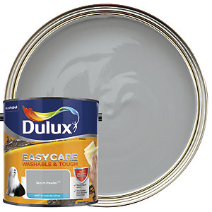 Dulux Easycare Washable & Tough - Warm Pewter - Matt Emulsion Paint 2.5L