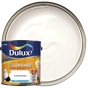 Dulux Easycare Washable & Tough - Pure Brilliant White - Matt Emulsion Paint 2.5L