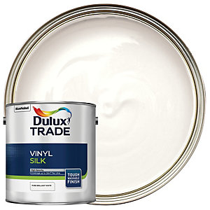 Dulux Trade Vinyl Silk Emulsion Paint - Pure Brilliant White 2.5L