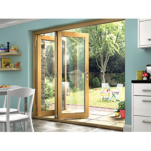 Wickes Isaac Oak Veneer Bi-fold Door Set