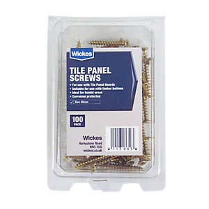 Wickes Tile Panel Screws 40mm - Pack of 100