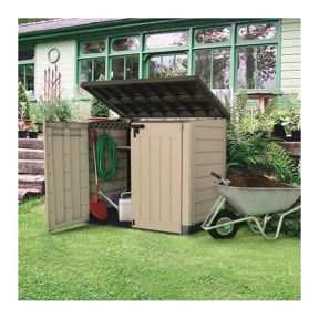 Patio Cabinet Large Tool Container New Outdoor Plastic Garden Storage Shed