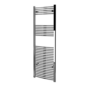 Kudox Curved Towel Radiator - Chrome 600 x 1800 mm