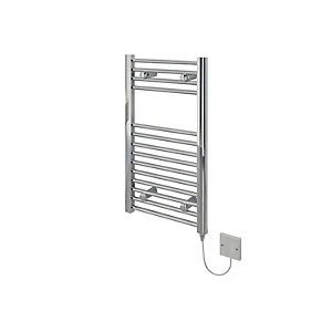 Image of Kudox Flat Electric Towel Radiator - Chrome 400 x 700 mm