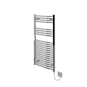 Image of Kudox Curved Electric Towel Radiator - Chrome 500 x 1100 mm