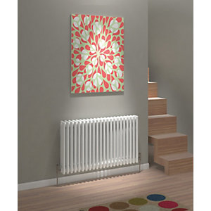 Image of Kudox Evora Two Column Designer Radiator - White 600 x 1042 mm