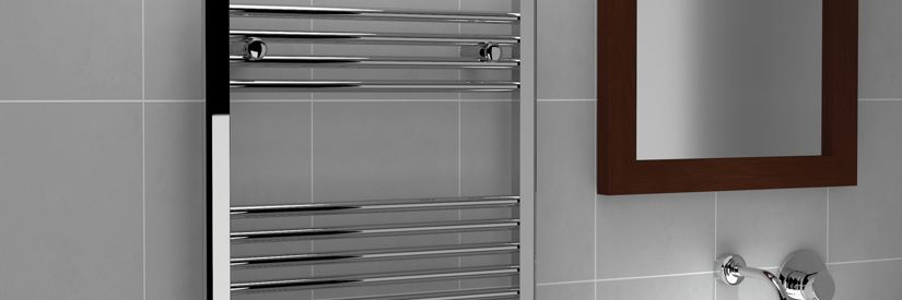 Kudox Straight Towel Radiator Chrome 600 X 1200 mm