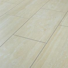 Wickes Travertine Tile Effect Laminate Flooring - 2.5m2 Pack ...