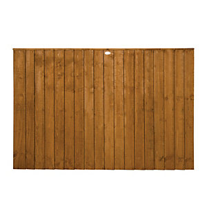 Forest Garden Dip Treated Featheredge Fence Panel - 6x4ft Multi Packs