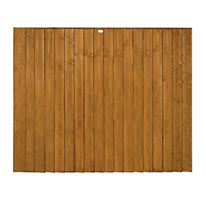 Forest Garden Dip Treated Featheredge Fence Panel - 6x5ft Multi Packs