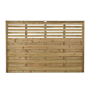 Forest Garden Pressure Treated Kyoto Fence Panel - 6x4ft Multi Packs