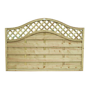Forest Garden Pressure Treated Bristol Fence Panel - 6x4ft Multi Packs