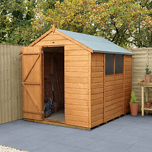 Forest Garden 8 x 6 ft Apex Shiplap Dip Treated Shed