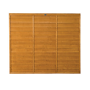 Wickes Dip Treated Overlap Fence Panel - 6ft x 5ft