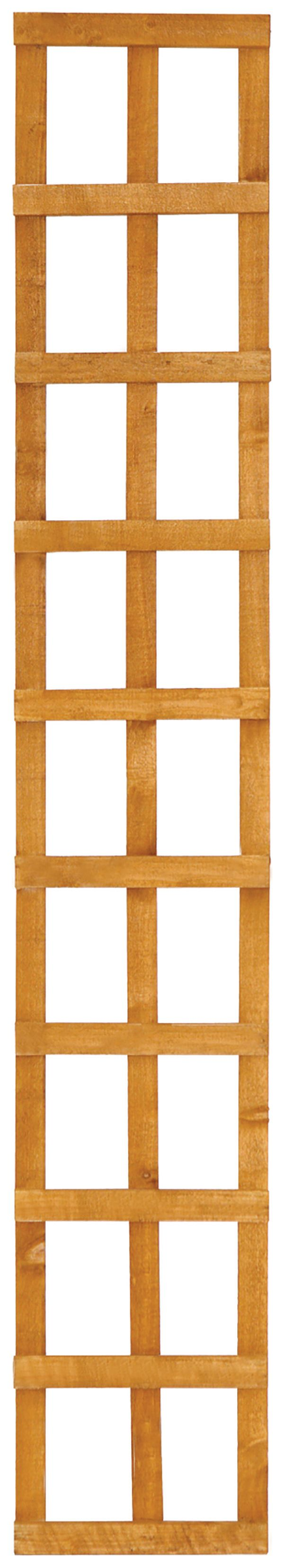 wickes top trellis square lattice fence panel 1 83m x 300mm autumn