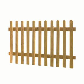 Wickes Pressure Treated Pale Palisade Picket Fence - 6 x 3ft