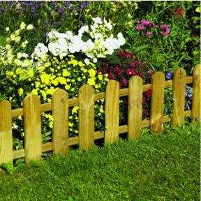 Vigoro 36 In Wood Picket Garden Fence Rc 74w The Home Depot