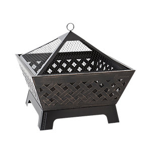 Image of Landmann Barrone Square Outdoor Firepit - Black
