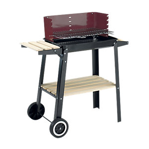 Image of Landmann Charcoal Grill Chief Wagon BBQ - Black