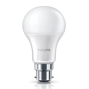 Image of Philips LED GLS Non-dimmable Bulb - 9W B22 - Pack of 3