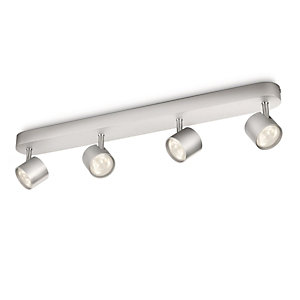 Philips Star LED Aluminium 4 Bar Spotlight - 4 x 3W