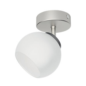 Philips Balla Matt Chrome Frosted Glass Single LED Spotlight - 4W