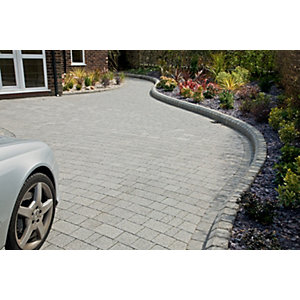 Image of Marshalls Argent Block Mixed Size Paving Driveway Pack - Light Grey 10.75 m2