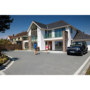 Image of Marshalls Argent Block Mixed Size Paving Driveway Pack - Graphite 10.75 m2