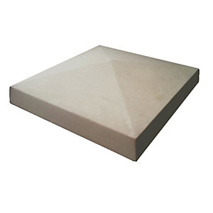 Marshalls Cast Smooth Pillar Cap Stone - Grey 280 x 280 x 50mm