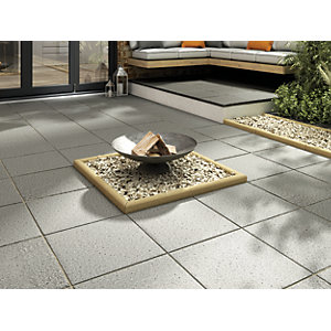 Marshalls Argent Coarse Dark Grey Paving Slab 400 x 400 x 38 mm