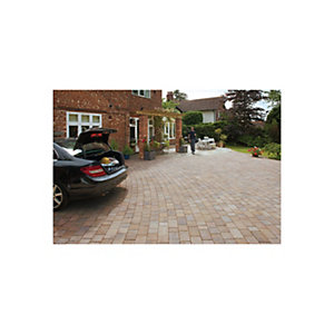 Image of Marshalls Tegula Block Mixed Size Paving Driveway Pack - Harvest 9.73 m2