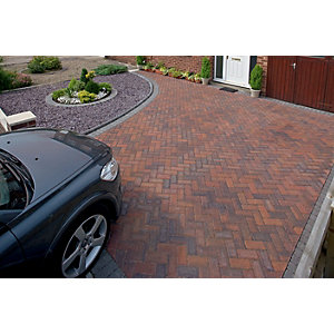 Marshalls Driveline Priora Driveway Block Paving - Brindle 200 x 100 x 60mm Pack of 404